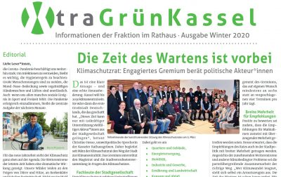 Die Fraktionszeitng der Kasseler Grünen hei´ßt XTRA-Grün