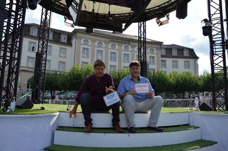 Robert Habeck Boris Mijatovic Kassel 14 September 2021 offen für Vielfalt